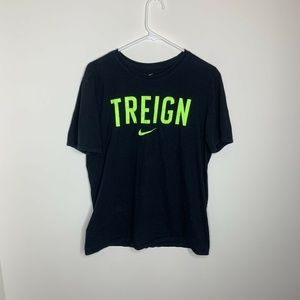 Nike Mens L Black and Green Treign Short Sleeve
